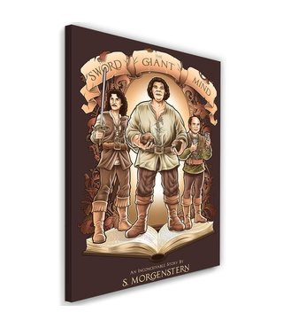 Schilderij , The Princess Bride , zwaard , reus en verstand , 2 maten , Bruin Beige ,Premium Print