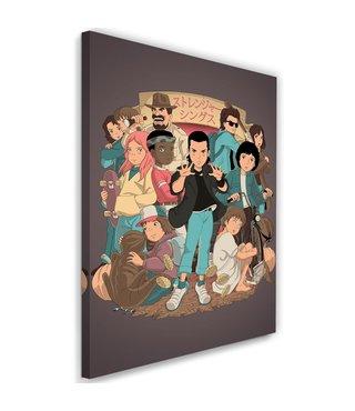 Schilderij , Jonge Helden , 2 maten , Multikleur , wanddecoratie , Premium Print