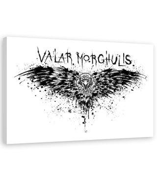 Schilderij ,  Valar Morghulis , Game of Thrones , 2 maten , zwart wit , wanddecoratie