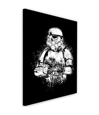 Schilderij , Filmpersonage , Trooper , 2 maten , zwart wit , wanddecoratie , Premium print
