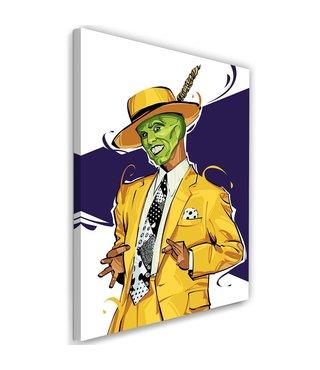 Schilderij , The Mask , 2 maten , geel groen zwart ,  wanddecoratie ,  Filmposter