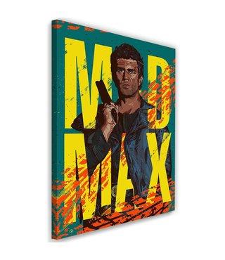 Schilderij , Mad Max , 2 maten , Filmposter geel groen oranje , wanddecoratie , Premium print