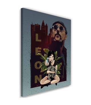 Schilderij , Leon,  2 maten ,multikleur , wanddecoratie , Filmposter, premium print