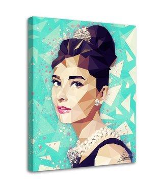 Schilderij , Audrey Hepburn  4, Filmster , 2 maten , multikleur , premium print