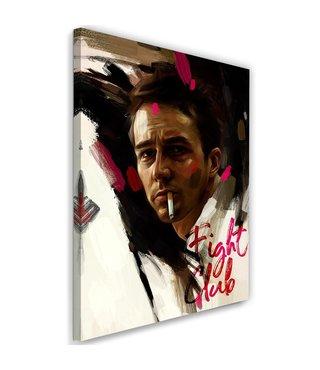 Schilderij , Fight Club , Brad Pitt , 2 maten , multikleur , Premium print