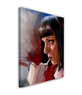 Schilderij Uma Thurman , Filmster , 2 maten , multikleur , Premium print