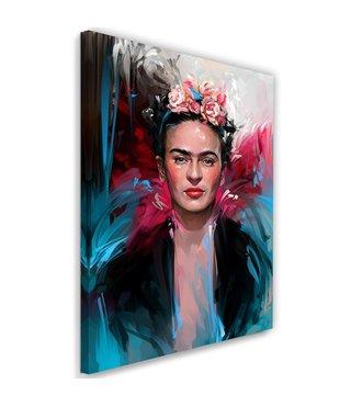 Schilderij , Frida Kahlo , Kunstschilderes , 2 maten , multikleur , wanddecoratie