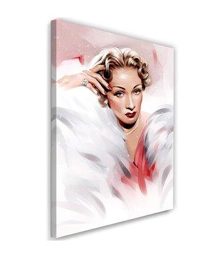 Schilderij , Marlene Dietrich , 2 maten , multikleur , Premium print