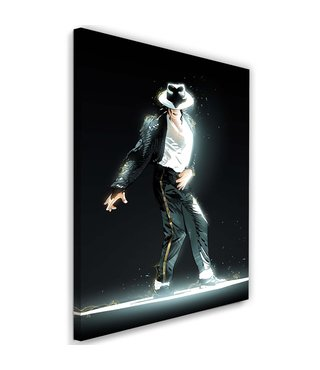 Schilderij Michael Jackson , 2 maten , zwart wit , Premium print