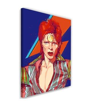 Schilderij David Bowie 2  , Zanger , 2 maten , multikleur , Premium print