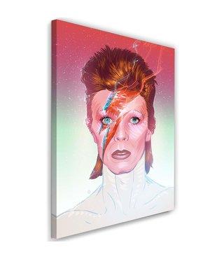 Schilderij David Bowie , Zanger , 2 maten  , multikleur ,Premium print