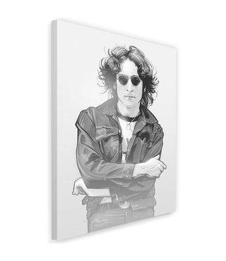 Schilderij John Lennon , Legende , 2 maten , zwart wit , wanddecoratie