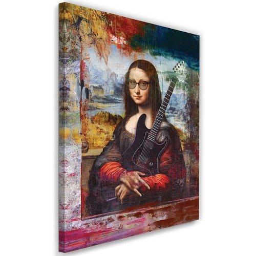 Schilderij Mona Lisa , Abstract , 2 maten , multikleur , wanddecoratie