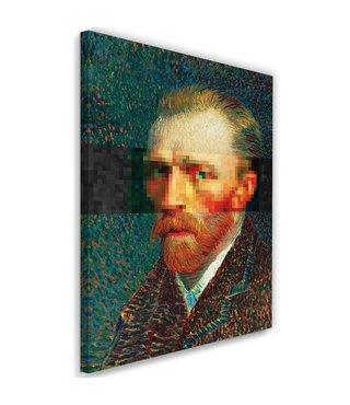 Schilderij , Zelfportret van Vincent van Gogh , 2 maten , multikleur , Reproductie