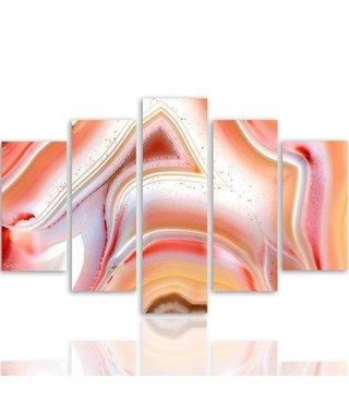 Schilderij , Gekleurde figuren ,4 maten , 5 luik , multikleur, wanddecoratie , Premium print , XXL