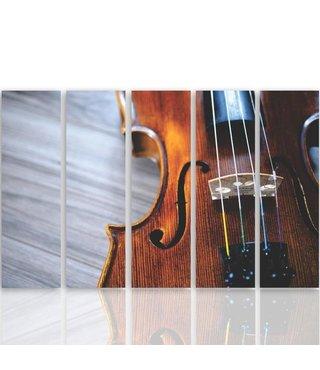 Schilderij Viool, 5 luik, XXL, wanddecoratie, premium print