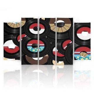 Schilderij Vinyl, vintage, 4 maten, XXL, wanddecoratie