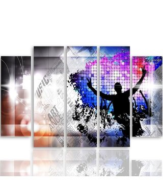 Schilderij Dance dance, 5 luik, XXL, wanddecoratie