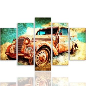 Schilderij Oldtimer, vintage, 4 maten, XXL, premium print