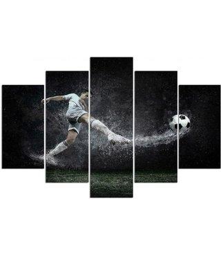 Schilderij Voetballer op nat gras, XXL, 4 maten, premium print
