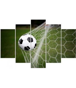 Schilderij Voetbal, doelpunt, XXL, 4 maten, premium print