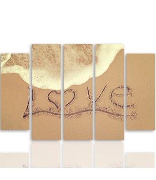 Schilderij LOVE, liefde op het strand, 4 maten, XXL, premium print