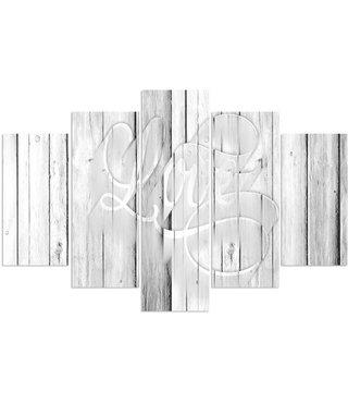 Schilderij Liefde in het wit, LOVE, XXL (wanddecoratie)