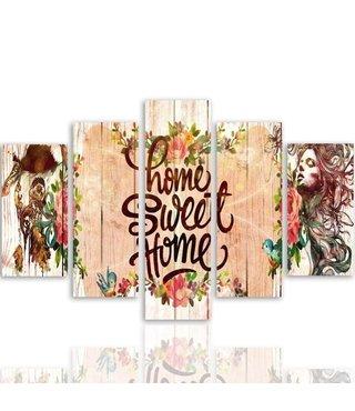 Schilderij Home Sweet Home, XXL (wanddecoratie)