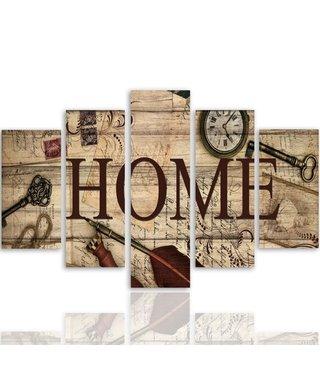 Schilderij Vintage HOME, XXL, 4 maten (wanddecoratie)