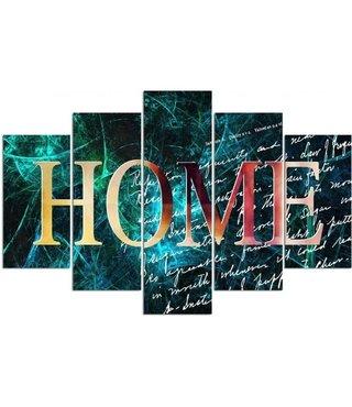 Schilderij HOME in kleuren, XXL, 4 maten (wanddecoratie)