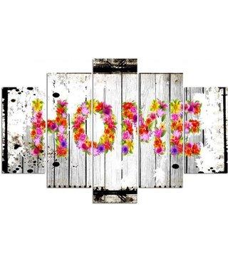 Home op hout (print op canvas) 4 maten, premium print
