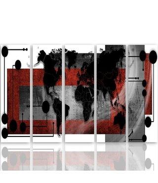 Schilderij Industriële wereld, XXL, Vijfluik, 4 maten