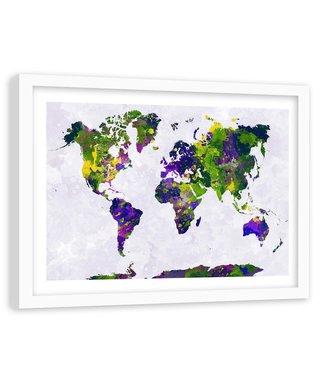 Foto in frame , Gekleurde Wereld 4 , 120x80cm , wanddecoratie , Premium print