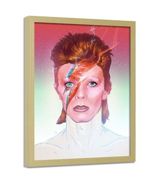 Foto in frame , David Bowie , Zanger , 70x100cm , multikleur , Premium print