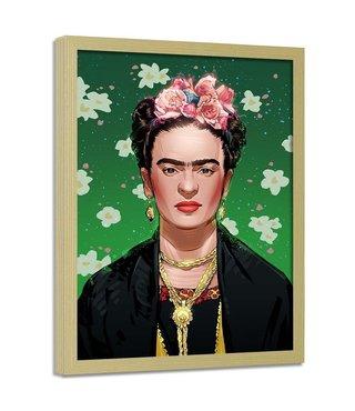 Foto in frame , Femistisch Artwork , 70x100cm , multikleur , Wanddecoratie