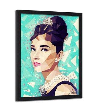 Foto in frame , Audrey Hepburn  4, Filmster , 70x100cm , multikleur , premium print