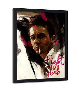 Foto in frame , Fight Club , Brad Pitt , 70x100cm , multikleur , Premium print