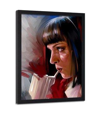 Foto in frame , Uma Thurman , Filmster , 70x100cm , multikleur , Premium print