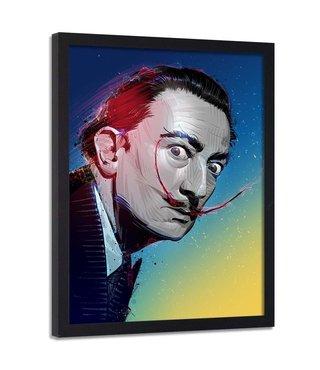 Foto in frame , Salvador Dali , Schilder , 70x100cm , multikleur , Premium print