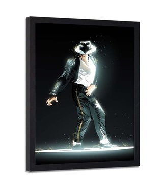 Foto in frame , Michael Jackson , 70x100cm , zwart wit , Premium print