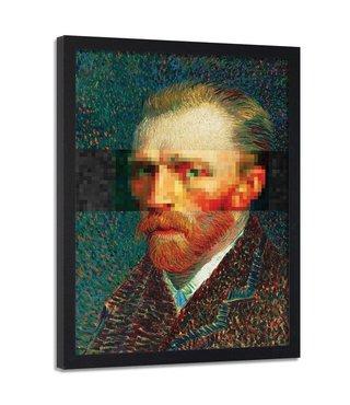 Foto in frame , zelfportret van Vincent van Gogh , 70x100cm , multikleur , Reproductie