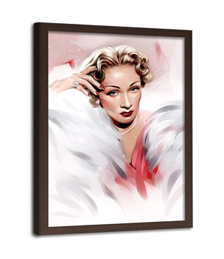 Foto in frame , Marlene Dietrich , 70x100cm , multikleur , Premium print