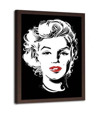 Foto in frame , Marilyn Monroe , Filmster , 70x100cm , zwart wit , Wanddecoratie