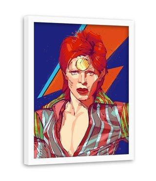 Foto in frame , David Bowie 2  , Zanger , 70x100cm , multikleur , Premium print