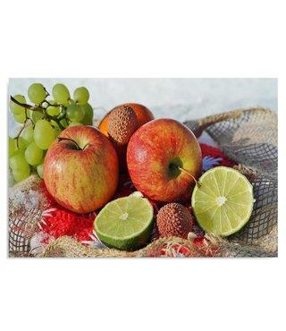 Schilderij stilleven van fruit, 50x70cm  Premium print