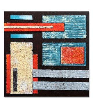 Schilderij Abstractie, multi-gekleurd, 100x100, wanddecoratie
