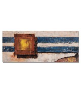 Schilderij - Abstracte panorama, 150x60, multi-gekleurd, wanddecoratie