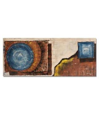 Schilderij - Panorama abstract, 150x60, multi-gekleurd, premium print
