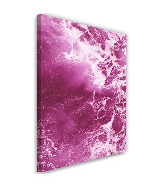 Schilderij  , Roze golven , 80x120cm , wanddecoratie , Premium print