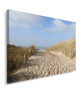Schilderij - Pad naar het strand, Noordzee, 100x70cm, premium print